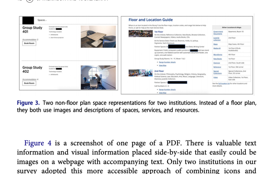 screenshot of article with excerpt of text and floor plan images